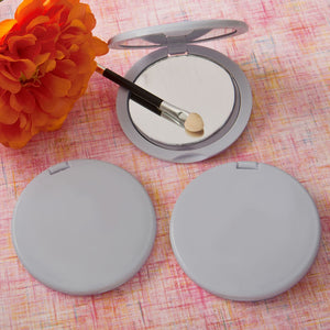 Perfectly Plain Silver Compact Mirror