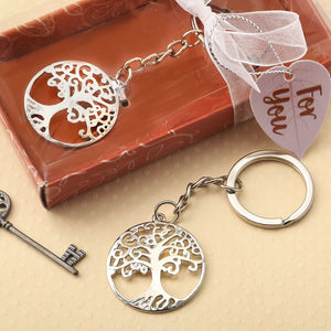 Silver Tree Of Life & Family Key Chain