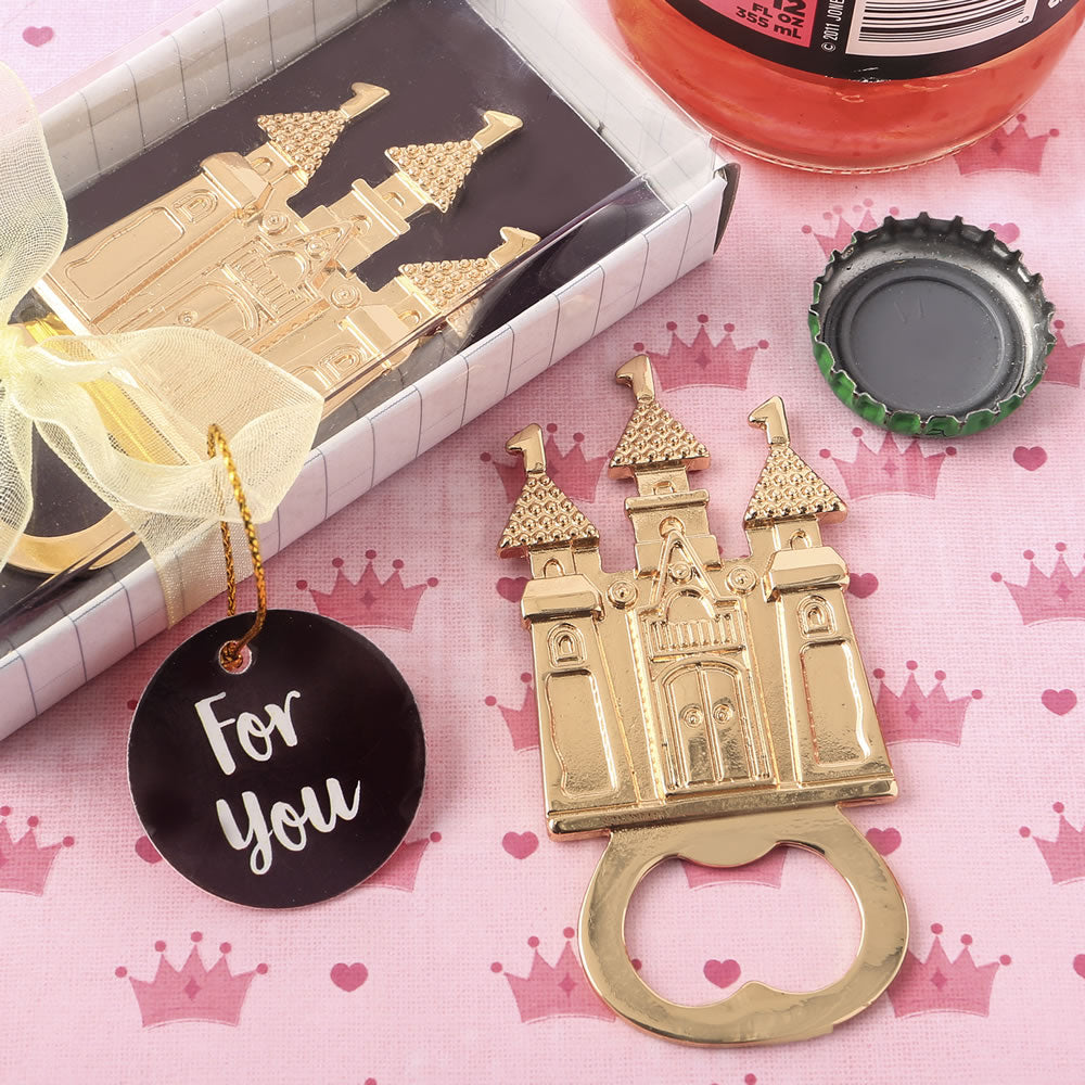 Castle Themed Gold Metal Bottle Opener