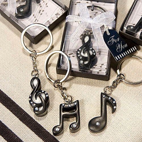 Musical Note Key Chain Favors
