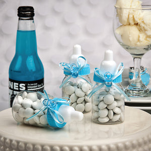 Blue Baby Bottle Candy Holders