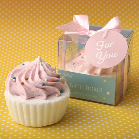 Adorable Pink Cupcake Bath Bomb