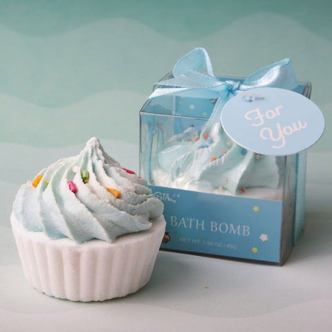 Adorable Blue Cupcake Bath Bomb