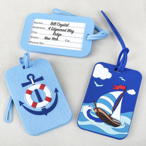 Two Nautical Luggage Tags