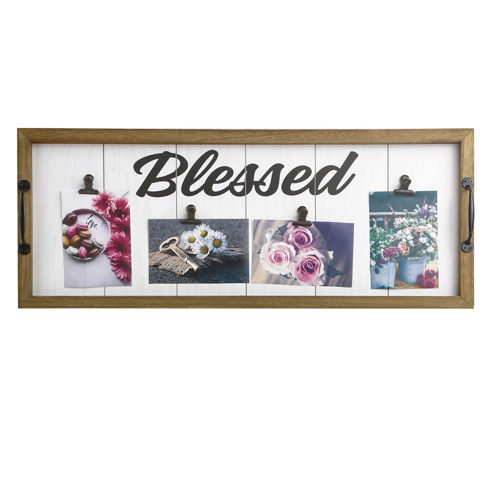 Blessed Wall Plaque - Distressed Wood Finish