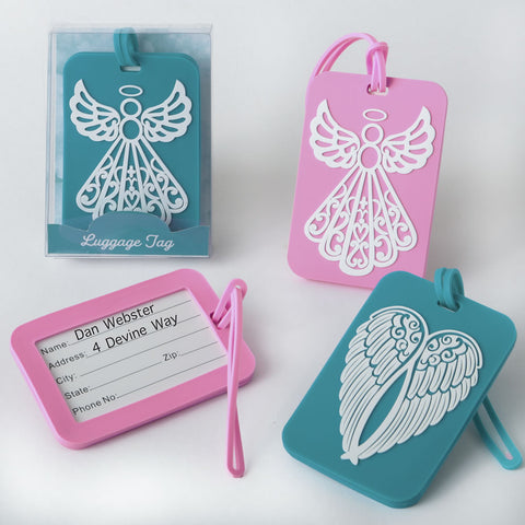 Angel & Angel Wings Luggage Tags - 4 Assorted Designs