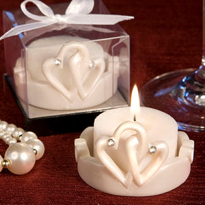 Interlocking Hearts Design Candles