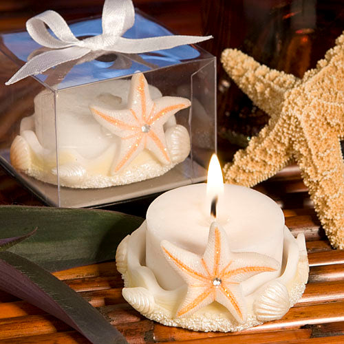Starfish Design Candle Holder with Tan Accent