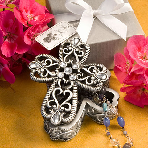Cross Design Curio Boxes From The Heavenly Favors Collection