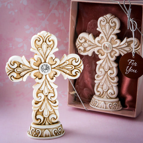 Exquisite Baroque Design Cross Statue