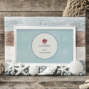 Charming Beach Horizontal 6 x 4 Picture Frame With Shells