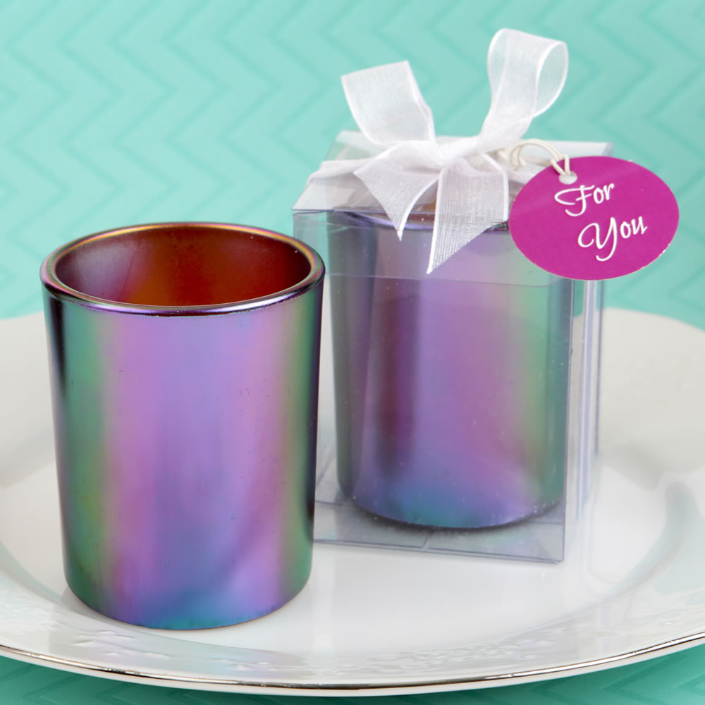 Stunning Iridescent Candle Holder With Tea Light Candle