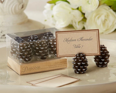 Pine Cone Place Card/Photo Holder (Set of 6)