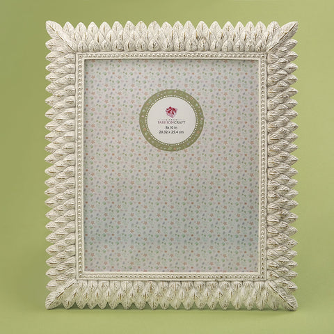 Brushed Leaf Ivory 8 x 10 Picture Frame