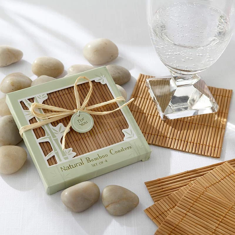 Natural Bamboo Eco-Friendly Coaster (Set of 4)