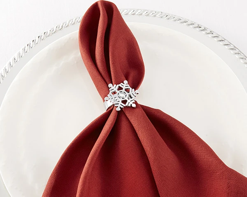 Sparkling Snowflake Napkin Ring (Set of 4)