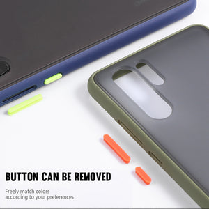For Xiaomi Redmi Note 8 Case Bakeey Armor Shockproof Anti-fingerprint Matte Translucent Hard PC&Soft TPU Edge Protective Case