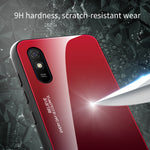 Load image into Gallery viewer, Bakeey for Xiaomi Redmi 9A Case Gradient Color Tempered Glass Shockproof Scratch Resistant Protective Case