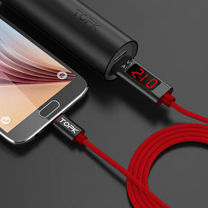 TOPK D-Line1 3A QC3.0 Voltage Current Display Type C Fast Charging Data Cable 1M For Phone Tablet