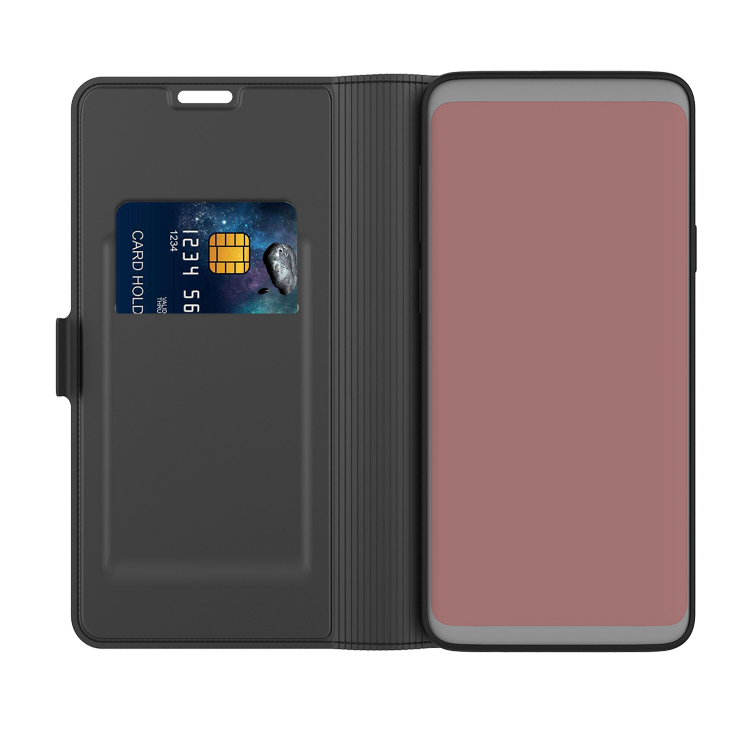 Bakeey for UMIDIGI A7 Pro Case Bussiness Magnetic Flip with Card Slot Foldable Stand Shockproof PU Leather Full Body Protective Case