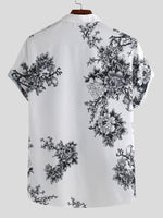 Load image into Gallery viewer, Mens Chinese Style Porcelain Floral Printed Short Sleeve Turn Down Collar Casual Shirts