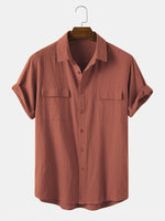 Load image into Gallery viewer, Banggood Designed Men 100% Cotton Solid Color Double Pocket Casual Shirts