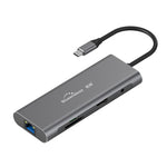 Load image into Gallery viewer, Blueendless 9 In 1 USB-C Hub Docking Station Adapter With 3 * USB 3.0 / 60W Type-C PD / 4K HD Display Video Output / RJ45 Network Port / 3.5mm Audio Jack / Memory Card Readers