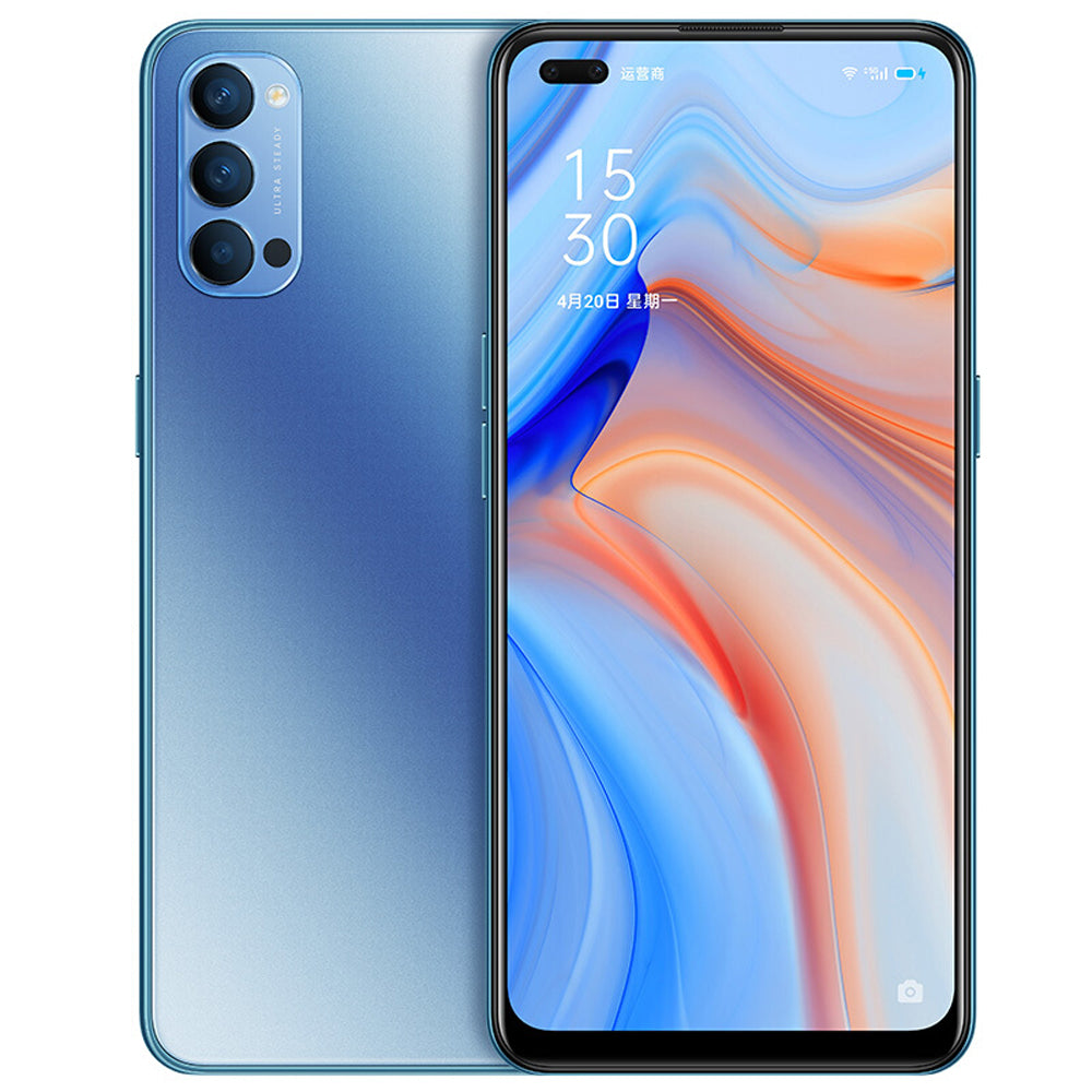 OPPO Reno4 5G CN Version 6.4 inch FHD+ 90Hz Refresh Rate NFC 65W SuperVOOC 2.0 32MP Dual Front Camera 8GB 128GB Snapdragon 765G Smartphone