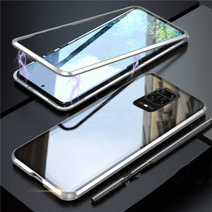 Bakeey Xiaomi Redmi Note 9S 360º Curved Screen Front+Back Double-sided Full Body 9H Tempered Glass Metal Magnetic Adsorption Flip Protective Case For Xiaomi Redmi Note 9 Pro / Xiaomi Redmi Note 9 Pro Max