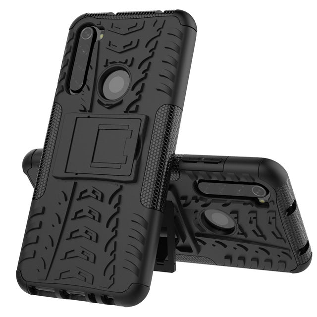 Bakeey 2 in 1 Armor Shockproof Non-slip with Bracket Stand Protective Case for Xiaomi Redmi Note 8
