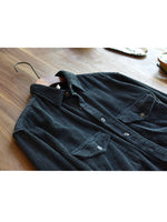 Load image into Gallery viewer, Banggood Design Mens Vintage Corduroy Big Chest Pocket Solid Color Long Sleeve Shirts Jackets