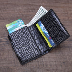Load image into Gallery viewer, Men Business RFID Anti-scan Mini Carbon Fiber Pattern Automatic Credit Card Aluminum Coins Bag Wallet ID Card Holder