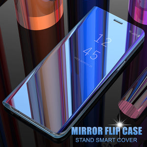 Bakeey for Poco F2 PRO Case Plating Mirror Window Shockproof Full Cover Flip Protective Case
