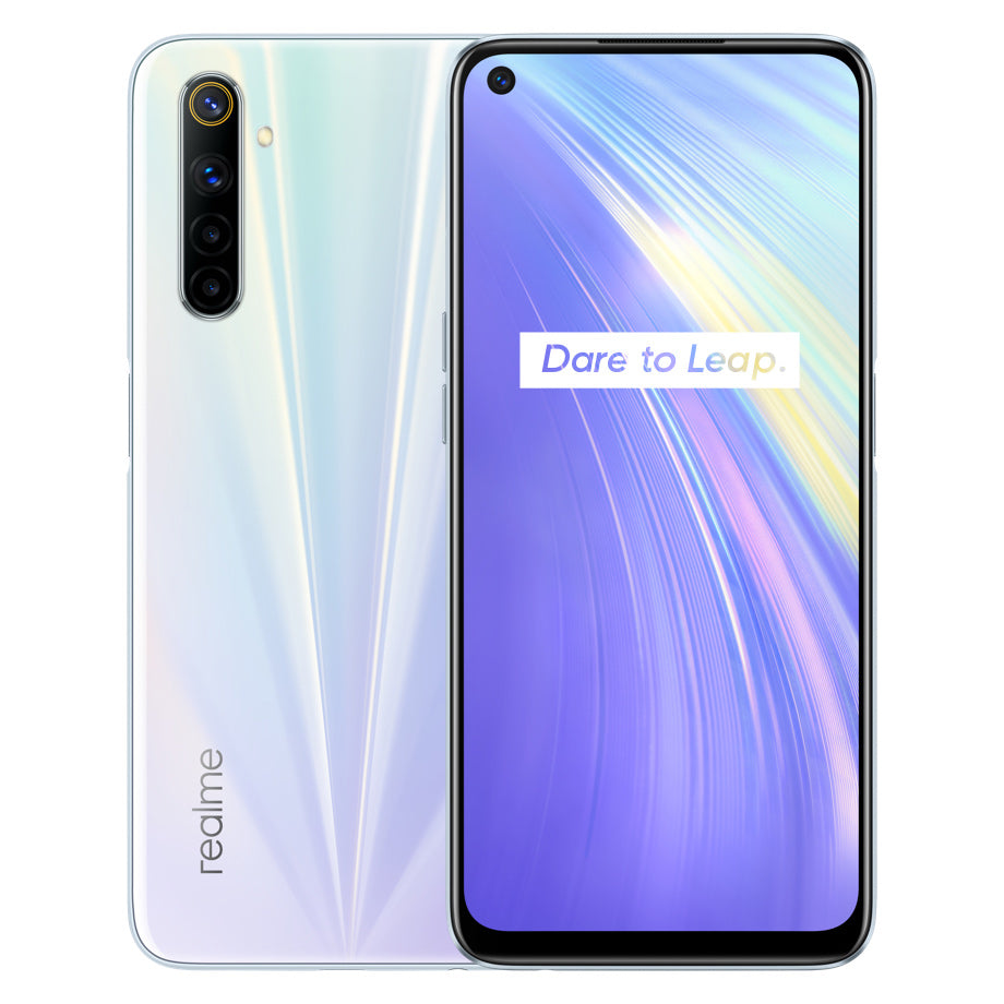 Realme 6 IN Version 6.5 inch FHD+ 90Hz Ultra Smooth Display 120Hz Touch-Sensing Android 10 4300mAh 30W Flash Charge 64MP AI Quad Rear Cameras 3-Card Slot 8GB 128GB Helio G90T Octa Core 4G Smartphone