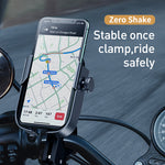 Load image into Gallery viewer, Baseus Universal Bike Motorbike Electric Vehicles Handlebar Phone Holder 360º Rotation for 4.7-6.5 Inch Smart Phone