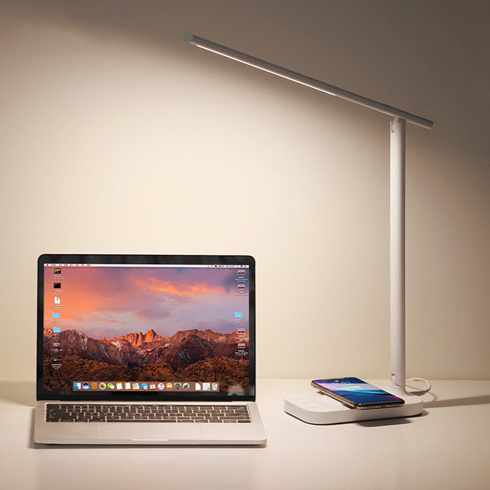 Baseus 10W LED Folding Desk Lamp Qi Fast Charging Pad Wireless Charger For iPhone XS 11 Max Pro Huawei P30 Pro Mate30 Samsung S10+ Note10