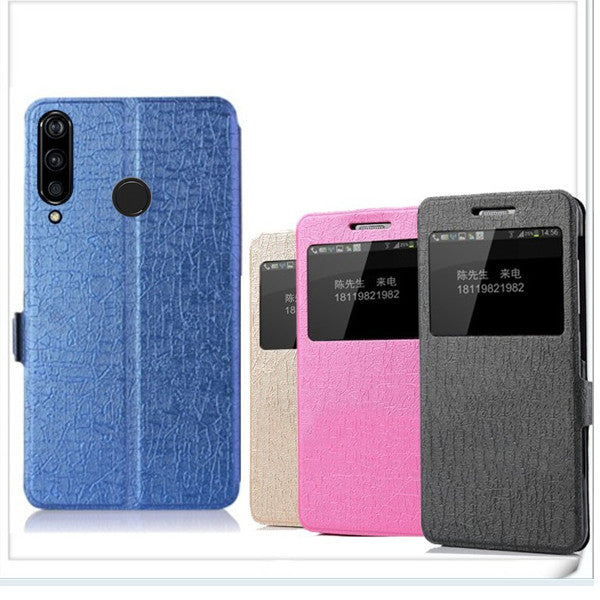 Bakeey Flip PU Leather With View Window Full Body Protective Case for Doogee N20