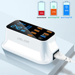 Load image into Gallery viewer, USLION US Plug 8-Port USB Charger Docking Station 18W PD3.0 Power Delivery Type-C Port LED Digital Display Power Supply For Galaxy S20 S20+ Huawei P30 P40 Pro Oneplus 8Pro