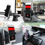 Load image into Gallery viewer, 2 In 1 Multifunctional Car Air Vent Front Glass Instrument Desk Sucker Phone Holder for Phone 3-6.5 inches