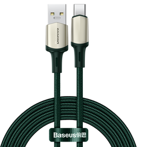 Baseus Cafule 30W 5A Warp OPPO VOOC Certified Flash Charge USB Type-C Cable QC3.0 SCP AFC FCP Fast Charging Nylon Braided USB 2.0 Data Transfer Cord For Huawei P30 P40 Pro Xiaomi Mi10 Redmi Note 9S OnePlus 8 Pro