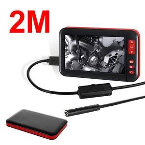 1M/2M/5M/10M 4.3-inch 8MM 1080P Color Display Screen 8 LED Inspection Camera Built-in 2000mAh Battery Adjust Brightness Support Take Photo/Take Video Repair Tool
