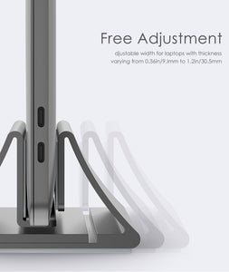 LENTION LS1 Aluminum Alloy Space-Saving Vertical Desktop Macbook Holder Stand for Macbook Air Pro 16 13 15 For iPad Pro 12.9 For 11 to 17-inch Laptop