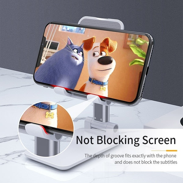 Universal Foldable Portable Telescopic Online Learning Live Streaming Desktop Stand Tablet Phone Holder for Tablet Phone