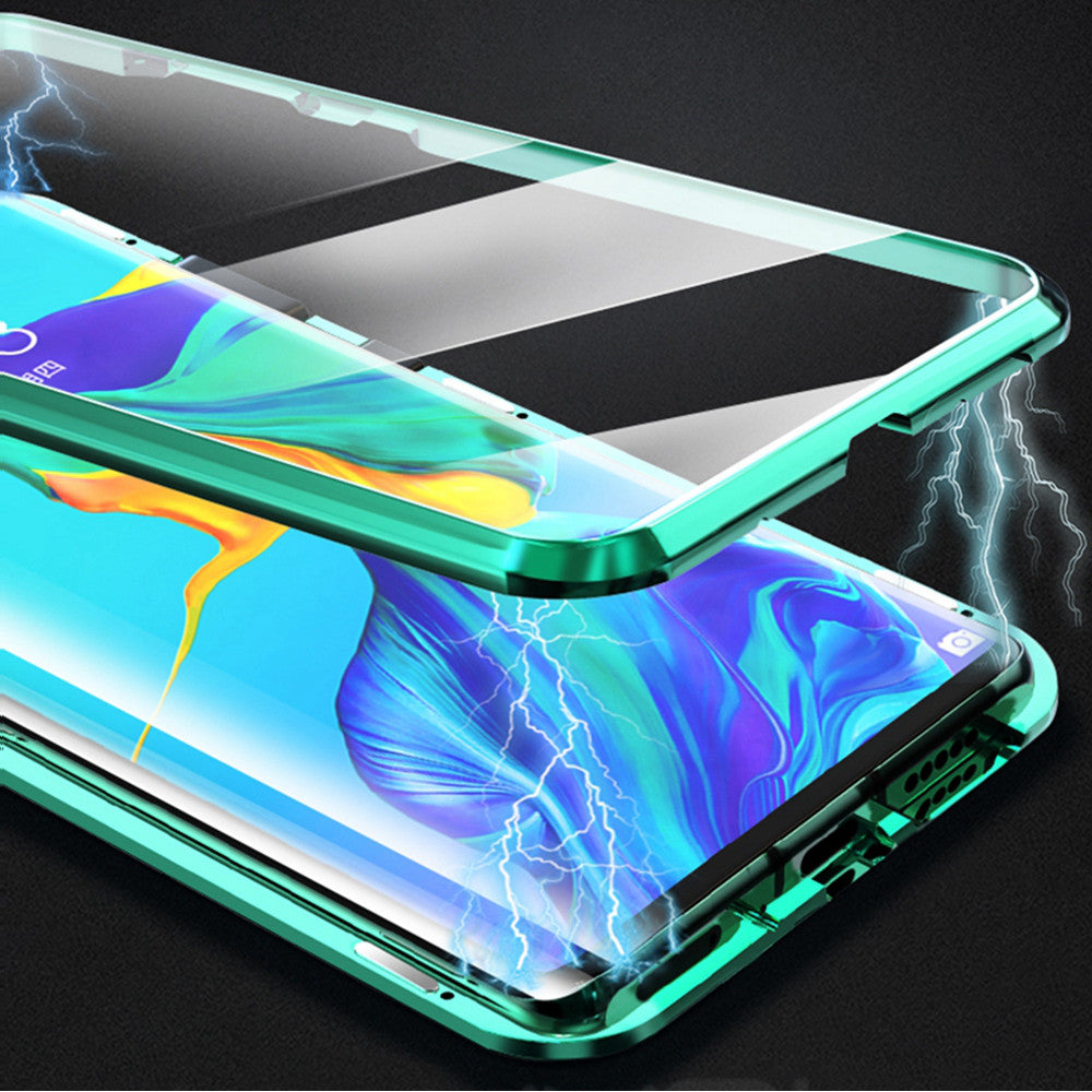 Bakeey 360º Curved Screen Front+Back Double-sided Full Body 9H Tempered Glass Metal Magnetic Adsorption Flip Protective Case For Huawei P30 PRO