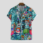 Load image into Gallery viewer, Mens Character Printing Turn Down Collar Casual Shirts