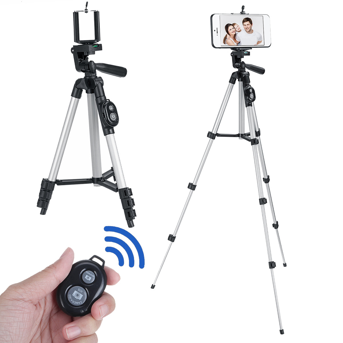 Portable Flexible Long Tripod Camera Stand bluetooth Remote Control with Phone Holder for Cell Phone