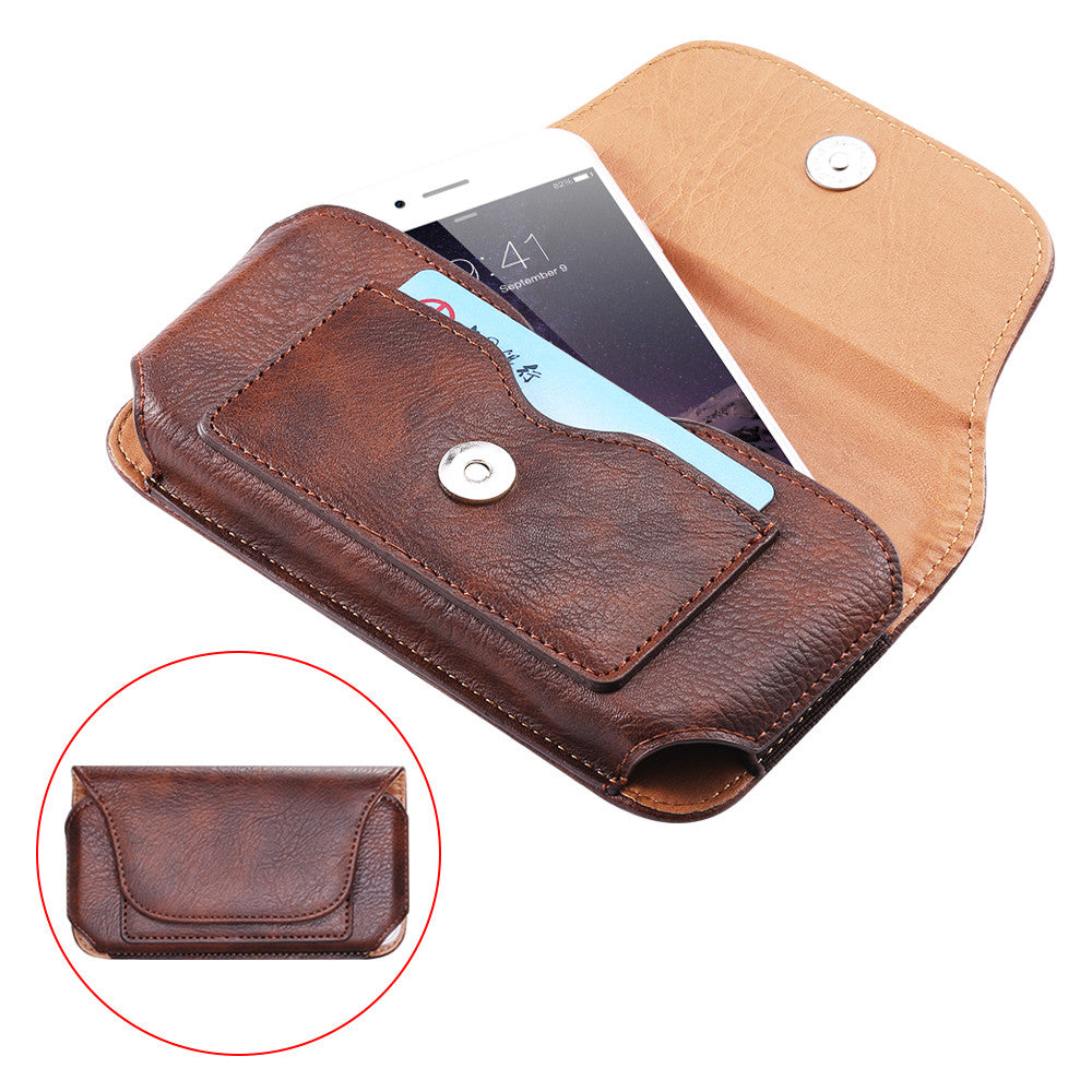 Bakeey Vintage Rhinoceros Hide Texture Mobile Phone Money Coin Hiking Sport Men Belt Waist Bag Sidebag Pack with Card Slot For Smartphone Nokia Phone Ulefone Armor 9