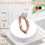 Load image into Gallery viewer, 360° Rotating Display Stand Electric Rotary Turntable Jewelry Watch Show Holder