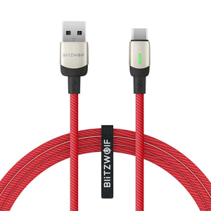 [3 Pack] BlitzWolf® BW-TC21 6.6ft 3A USB Type-C Cable LED Indicator Fast Charging Data For Xiaomi Mi10 Redmi Note 9S UMIDIGI A7 Pro ELEPHONE E10 DOOGEE X95 UMIDIGI S5 Pro
