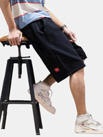Load image into Gallery viewer, Mens Cotton Solid Color Multi Pocket Loose Drawstring Shorts